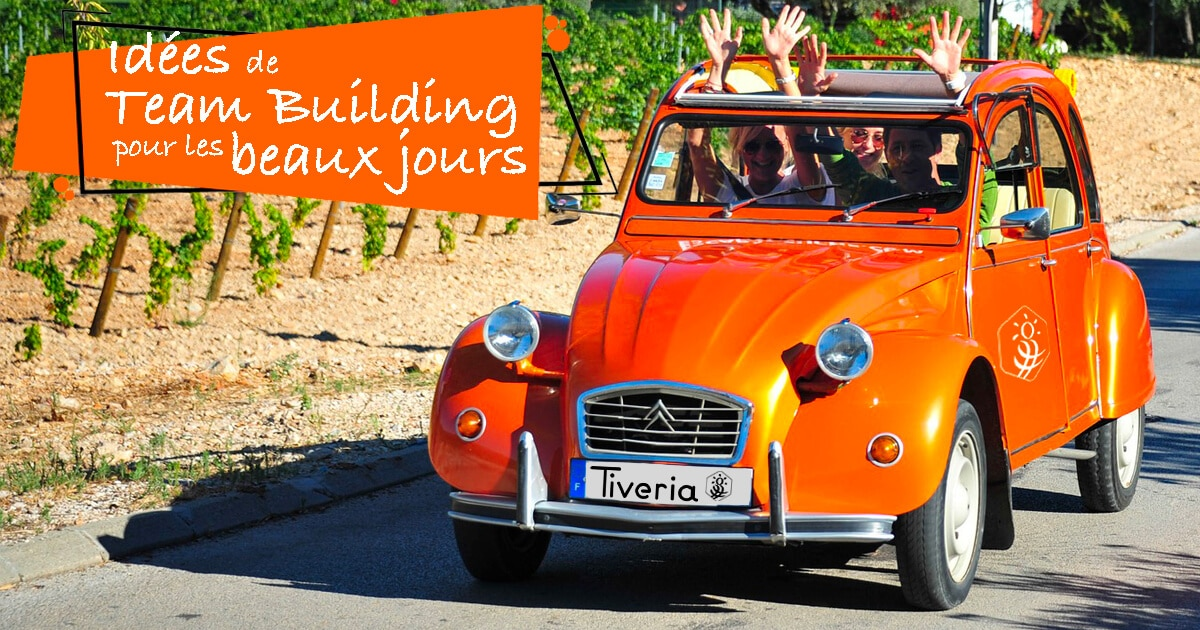 Team Building pendant les beaux jours avec Tiveria